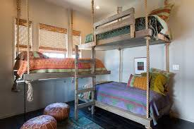 Moroccan Style Bunk Room with Rope Bunk Beds
