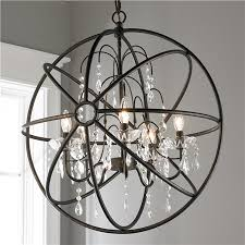 crystal and metal orb chandelier pertaining to with crystals plan 1