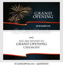 Grand Opening Invitations Grand Opening Vector Illustration Invitation