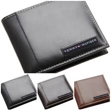 Black Leather Designer Wallet Details About Tommy Hilfiger Mens Bifold Leather Passcase Designer Wallet Black Brown Tan