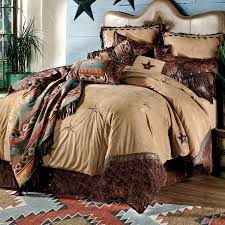 western bedroom sets with turquoise western bedding sets cheyenne faux tooled leather star pillow