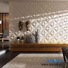 white wave design pvc 3d wall panel