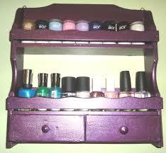 wooden nail polish rack