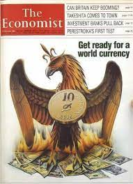 So did the economist foresee the creation of bitcoin three decades ago? 1988 Economist Cover Predicting A World Currency By 2018 Bitcoin