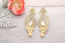 gold silver chandelier earrings