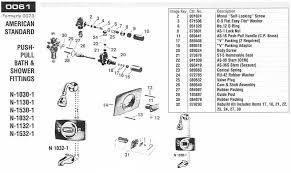 shower faucet kit with valve. american standard shower valve 0061 and 0073 faucet kit with l