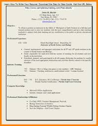 Free Teacher Resume Templates Resume Template Word Teacher Therpgmovie 24