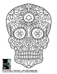 Free Printable Coloring Pages For Adults Sugar Skulls Awesome Cool