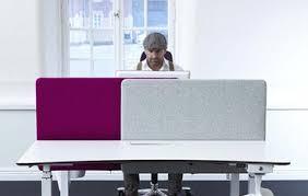 desktop screens blue curved office desk dividers