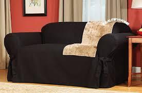 black couch slipcovers. Plain Black Black Sofa Slipcovers On Couch Slipcovers A