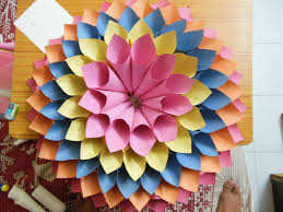 How To Make Big Lotus Flower From Paper Paper Lotus 6 Steps With Pictures