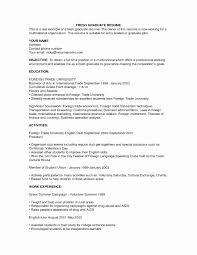 Resume Format Hotel Industry Elegant Hotel Manager Resume Samples