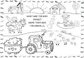 Farm Animals Printable Animal Coloring Farm Animals Colouring Pages