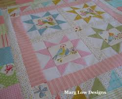 Marg Low Designs: something pretty, something red & You may remember the cute love bird fabric I used on the back of a baby  quilt last year. I couldn't resist fussy cutting it and using it in the  stars and ... Adamdwight.com