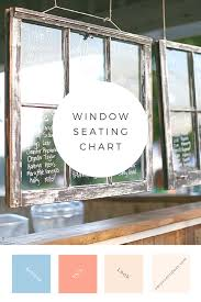 Diy Window Seating Chart Easy Event Ideas