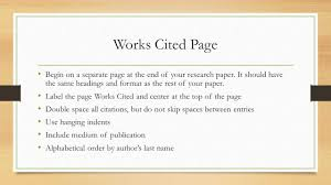 Work Cited Page For Research Papers Custom Paper Writing Service