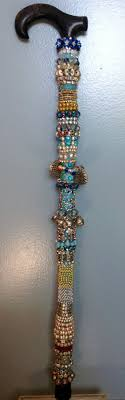 Decorated Walking Canes Decorative Beaded Cane And Walking Stick Carved walking sticks 4