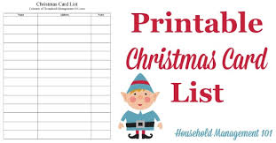 Printable Contact List Simple Christmas Card List Printable Plan Who You'll Send Cards To This Year