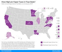 How High Are Vapor Excise Taxes In Your State 2019 Tax