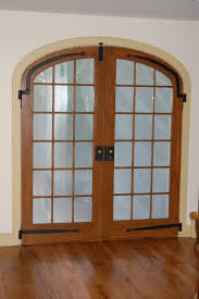 exterior elliptical arch top double french door unit double pane insulated glass with simulated mullions