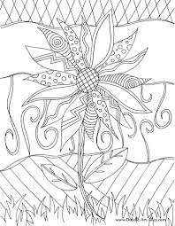 Free Doodle Art Coloring Page To