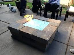 fire pit crystals propane glass brilliant custom the x aluminum pertaining to