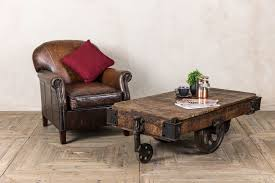 industrial style trolley coffee table