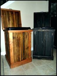 wooden kitchen trash cans wooden en trash cans decoration amazing can rustic decorative wood