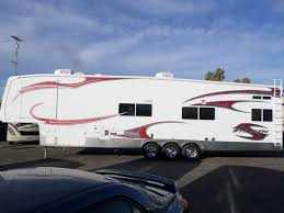 2010 forest river stealth 5th wheel toy hauler