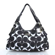 black purses coach   Coach Purses Coach Fashion Signature Medium Black  Shoulder Bags DZJ .
