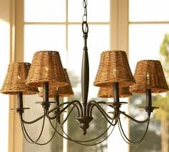 dramatic chandelier lamp shades wooden rattan