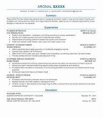 Plumber Apprentice Resume Sample Resumes Misc Livecareer
