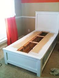 diy twin bed with storage a creative storage idea to make shelves or cubbies instead
