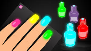 Learn Colors with Surprise Nail Arts Colours to Kids Children ...