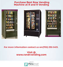 How Much Can A Vending Machine Make A Month New Purchase Best Row Vending Machine At R And R Vending