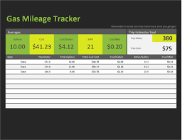 business mileage tracker gas mileage tracker office templates