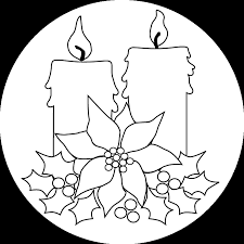 christmas candles coloring pages. Modren Pages Printable Christmas Candles Page To Coloring Pages N