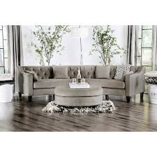 modern grey sectional sofas. Delighful Sofas Aretha Contemporary Grey Tufted Rounded Sectional Sofa By Furniture Of  America In Modern Sofas M