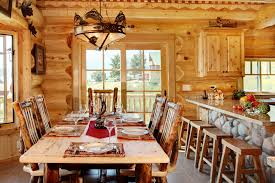 log home designers. eat-in kitchen area of log home designers