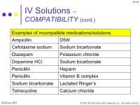 Iv Medication Solution Compatibility Chart For Nurses