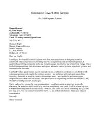 Relocation Cover Letter Examples For Resume