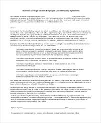Student Confidentiality Agreement Template - Kristalleeromances.com
