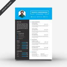 Modern Resume Template 2013 Modern Resume Template Vector Premium Download