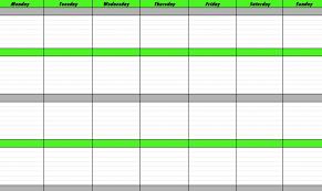 schedule weekly weekly schedule calendar template