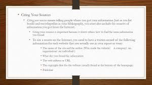 session how to cite internet sources citing your sources 2 citing