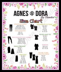 Agnes Dora Size Chart Love That Everything Fits True To