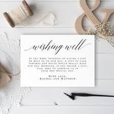 Wedding Insert Templates Wishing Well Card Wedding Insert Templates In Lieu Of Gifts Wedding Invitation Enclosure Cards Wedding Inserts Wedding Invite Insert Vm51