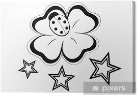 Obraz čtyřlístek A Hvězdy Tetování Na Plátně