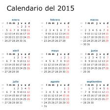 Calendario 2015 En Español Para Imprimir O Descargar Lo Nuevo De Hoy