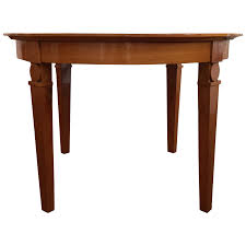 viyet designer furniture tables antique 1940s italian extendable cherry wood round dining table